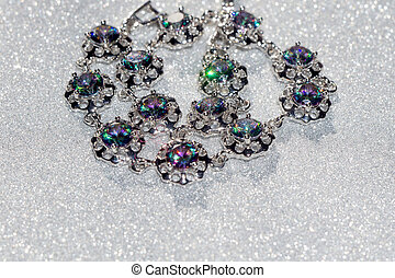 Bracelet with Mystic Topaz - Fashion bracelet with mystic...