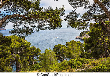 The picturesque Calanque - National Park Calanques on the...