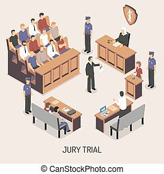 Jury Trial Isometric Composition - Jury trial isometric...