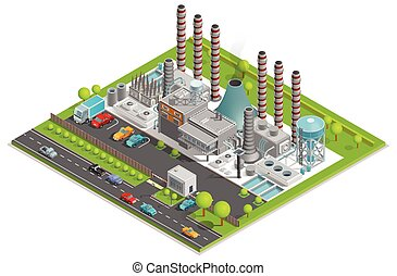 Chemical Plant Isometric Concept - Chemical plant isometric...