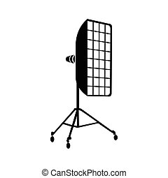 Photographic studio equipment icon, simple style - icon in...