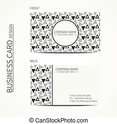 Vector simple business card design Template Black and white...
