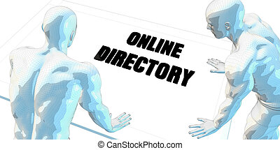 Online Directory Discussion and Business Meeting Concept Art