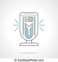 Portable air ionizer flat line vector icon - Portable...