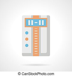 Climate appliances flat color vector icon - Household...