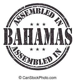 Assembled in Bahamas stamp - Assembled in Bahamas grunge...