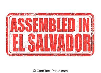 Assembled in El Salvador stamp - Assembled in El Salvador...
