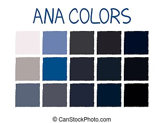 ANA. Army Navy Air Force Marines Color Tone without Name...