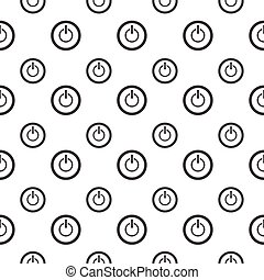 seamless pattern with power button