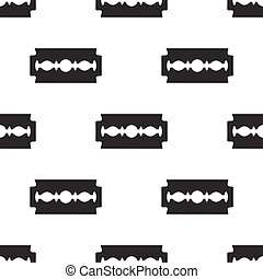 seamless pattern with razor blade
