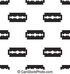 seamless pattern with razor blade