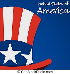 Uncle Sam hat Independence Day card in vector format.