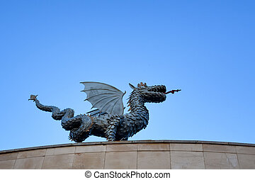 Dragon Zilant is a symbol of Kazan - Sculpture of dragon...