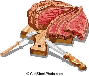 sliced ham - cold boiled sliced pork ham meat prepared on...