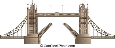 london bridge - illustration of london bridge in england