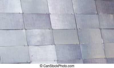 Solar panel satellite - Panorama of solar panel space...