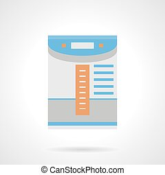 Air cleaner for home flat color vector icon - Electrical air...