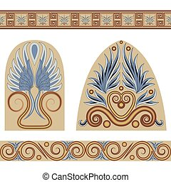 Greek set - A set of patterns and ornaments in the Greek...