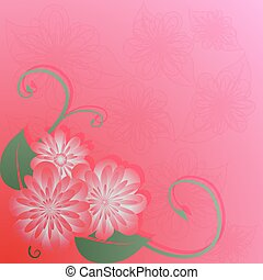 pink flowers - Bright background with pink flowers and...