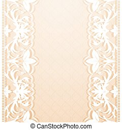 lacy - Delicate pink background with lace pattern Vector...