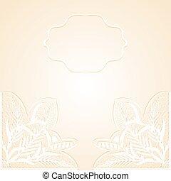 delicate - Wedding invitation with delicate white lace...