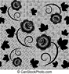 lace seamless - Seamless background of black lace Vector...