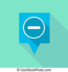 Long tooltip icon with a subtraction sign - Illustration of...
