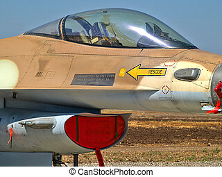 F-16 jet fighter plane - Details of a famous US made F-16...