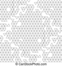 Graphic triangles pattern - Abstract graphic seamless...