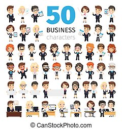 Business People Big Collection - Big set of 50 business...