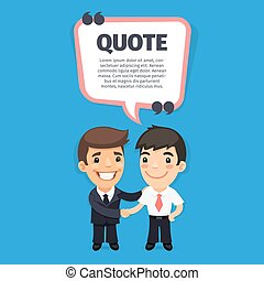 Quote Speech Banner with Trainee - Quote speech banner with...