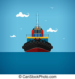 Tugboat for towage and mooring of other courts - Tugboat, a...