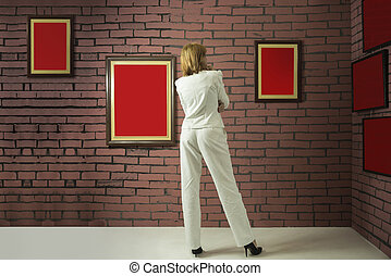 Art collector in the museum