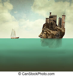From the depths of the earth - Artistic surreal illustration...