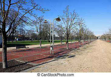 long Avenue in the public park called CAMPO MARZO in...