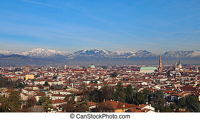 Vicenza, Italy, panorama with Basilica Palladiana and the...