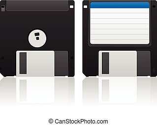 Diskette on a white background.
