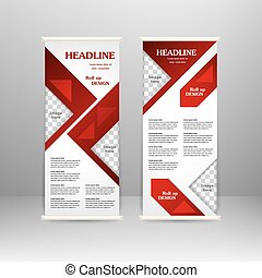 Roll up banner stand design. For advertisement, poster,...