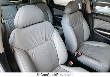 Interior of a car.
