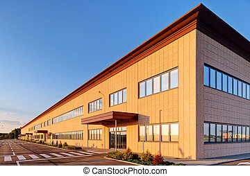 Industrial building - Exterior of industrial building on a...