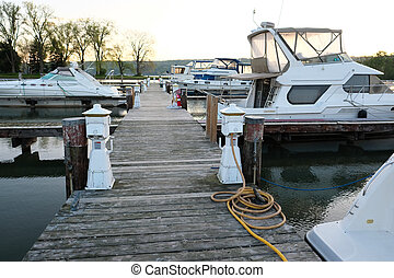 Marina on Lake Cayuga at Ithaca, New York