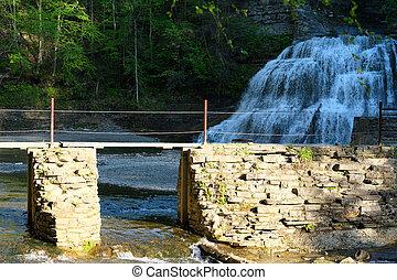 Waterfalls near Ithaca, New York - Waterfalls at Robert H....