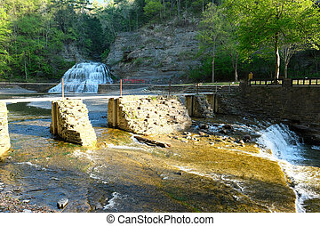 Waterfalls near Ithaca, New York - Waterfalls at Robert H....