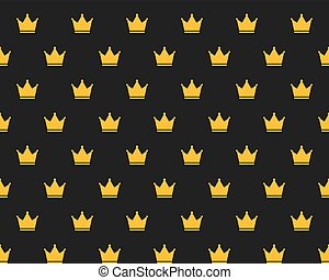 Seamless Golden Crown Pattern