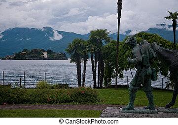 bello, statua, dedicato, a, il, montagna, a, il, secondo,...