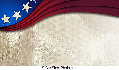 American Stars and Stripes abstract wave background