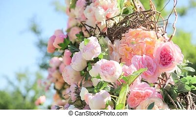 Bouquet of pale pink flowers