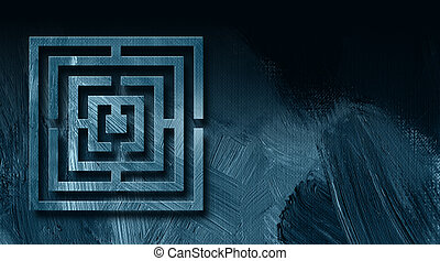 Graphic Maze Abstract Background