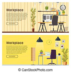 Two Horizontal banner for web design
