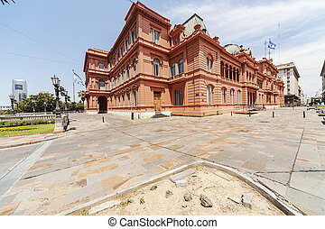 La Casa Rosada The Pink House is mansion and office of the...